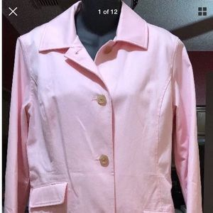 Brooks Brothers Petite Women's Pink Trench Coat